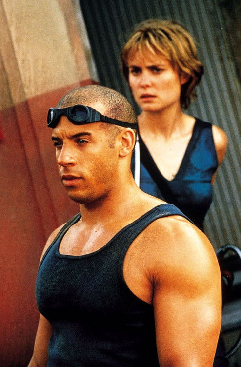 Vin Diesel and Rhada Mitchell from Pitch Black