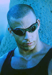 Vin as Riddick in Pitch Black