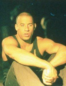 Vin as Riddick in Pitch Black